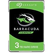 """Seagate BarraCuda, Unità Disco Interna da 3 TB, Unità SATA da 6 Gbit/s, 2,5"""", 5.400 giri/min, Cache da 128 MB per PC Desktop e PC Portatili (ST3000LM024)"""