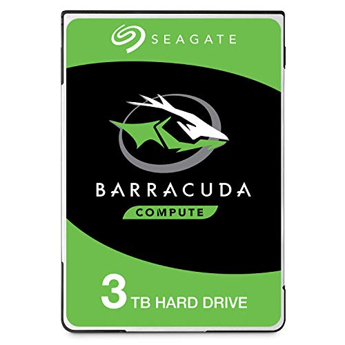 Seagate BarraCuda 3 TB HDD interne Festplatte (6, 35 cm (2,5 Zoll), 15 mm dünn, 5400 U/Min, 128 MB Cache, SATA 6 Gb/s, silber) Modellnr.: ST3000LM024