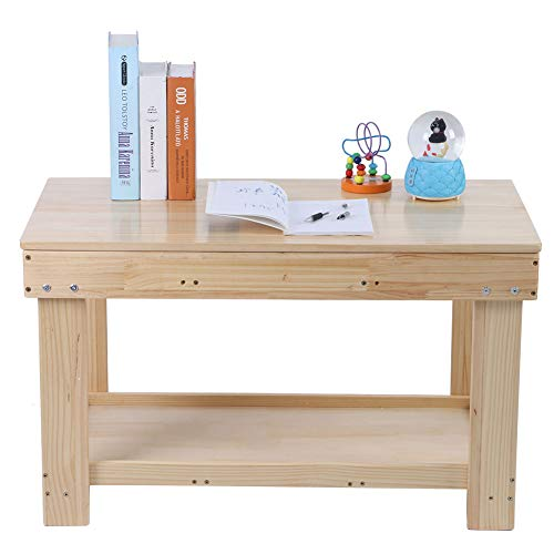 Children's Room Table Play Table with Building Panels Wooden Table Multifunctional Activity Desk Furniture For Children Adults Building Blocks Play Activity Education, 44 x 83 x 50 cm