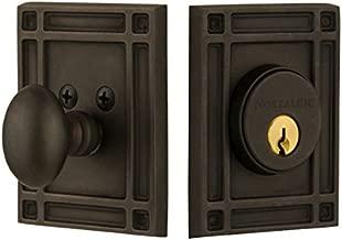 بالحنين مستودع 715139مهمة لوحة واحدة أسطواني deadbolt مهمة مقبض الباب من البرونز oil-rubbed ،