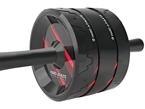 Hard Athlete Ab Roller Wheel for Abs Workout – Ab Wheel Roller for Core Workout with Extra Wide Wheel for More Stability - Ab Roller for Abs Workout - Abs Roller Wheel - Exercise Wheel