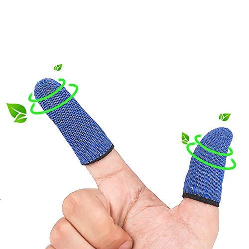 Prenine Gaming Gloves Juego móvil Finger Cot Guantes de juego a prueba de sudor Pantalla táctil Controlador del juego Cubierta del dedo