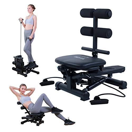 BESVIL Stepper ABS Workout Equipment AB Machine Total Body Workout Fitness Exercise Machine Stepping Exercise Machine for Home Gym Workout,Black from BESVIL
