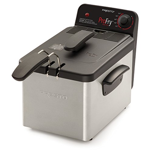 powerful National Presto 05461 Deep fryer, with immersion element, stainless steel Pro Fry, silver