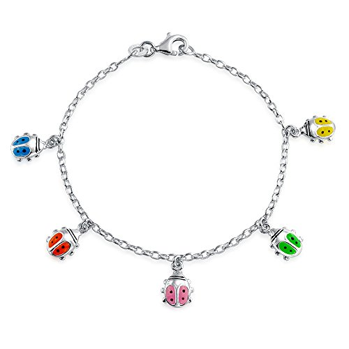 Bling Jewelry La Chance Coccinelle Bracelet Coloré Balançant