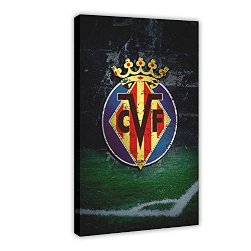 Villarreal CF - Póster de lienzo para pared (60 x 90 cm)