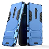 Happy-L Case Cover for Oppo Reno 10x Zoom (6.6 inch), Dual Layer Armor Defender Shockproof Protective Hard Case with Stand (Color : Blue)
