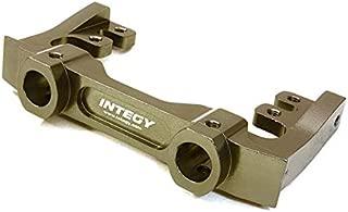 Integy RC Model Hop-ups C27016GUN CNC Machined 40mm Type Front Bumper & Steering Servo Mount for Axial SCX-10