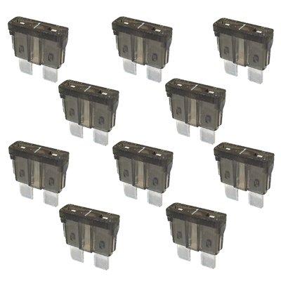 10 x Flachstecksicherung - Sicherung 1A / 32V / schwarz