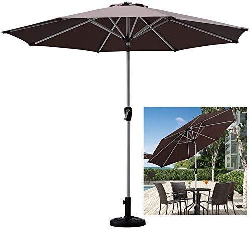 FGVBC Sombrilla de jardín de 2,7 m (9 pies) Sombrilla de Mesa Protección UV 40+, Sombrillas de elevación de manivela Sombrillas de Patio para Exteriores/Playa/Piscina / (Silla)