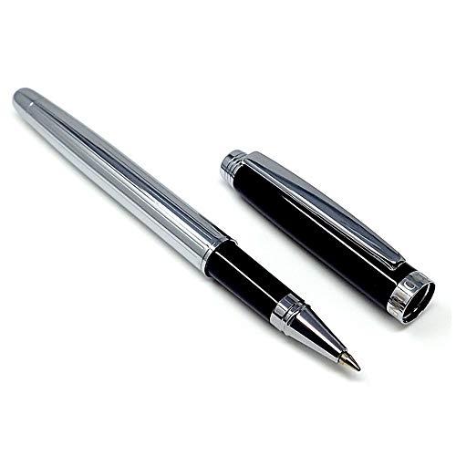 Roller mehr vertikalen schwarzen Streifen geschnitzt Silber [AC0083]