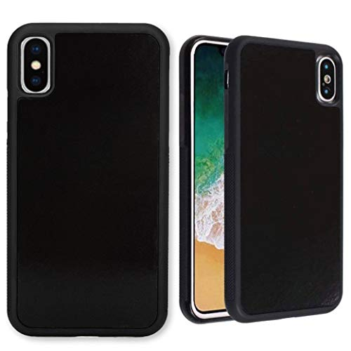 imluckies Anti Gravity Phone Case for iPhone Xs Max, Goat case Magical Nano Technology can Stick to Glass, Whiteboards, Metal and Smooth Surfaces [Black]