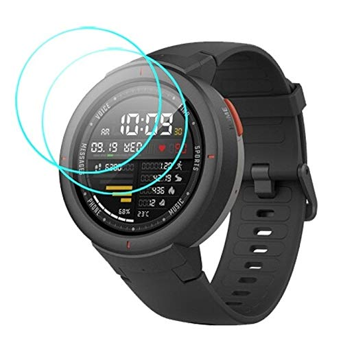 invella Tempered Glass Screen Protector for Amazfit Verge & Verge Lite Smartwatch (Transparent, Pack of 2)