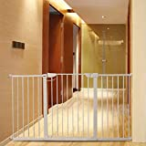"Fairy Baby Extra Wide Baby Gate for Kids Or Pets Walk Thru Dog Gates for The House Doorway Child Safety Gate 65.35""-68.11"""