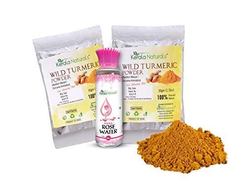 Kasturi Turmeric Powder 100gm + Rose water 100ml
