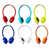 Bulk Headphones 6 Pack School Headphones for Kids -YMJ(6 Colors) Kids Headphones for School,Classroom, Libraries, Laboratories (Color Mixed)