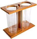 N\A AY Tanque de Peces Fighting Fish Tank Goldfish Tanque Aquarium Creativo Bambú Madera Ecológico Peces Tanque Escritorio Mini Tanque Aquario Pequeño Tanque Tanque Tanque Cilindro (Color : Cylinder)