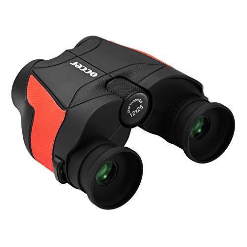 occer 12x25 High Powered Binoculars,Compact Folding Binocular Bak4 Prism FMC Optics with with Low Light Night Vision, Lightweight Binoculars for Birding,Hunting,Sightseeing,Hiking,Wildlife,Traveling