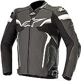 Alpinestars Motorradjacken Celer V2 Leather Jacket Black White, Schwarz/Weiss, 50