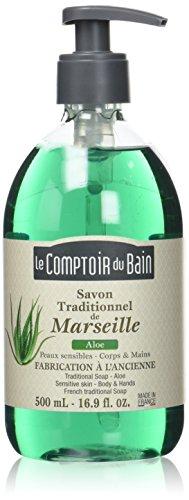Le Comptoir du Bain Savon de Marseille Liquide Aloe 500 ml - lot de 3