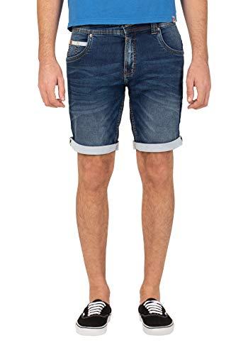 Timezone Herren Slim Scottytz Shorts, Blau (Light Aged wash 3282), W31(Herstellergröße:31)