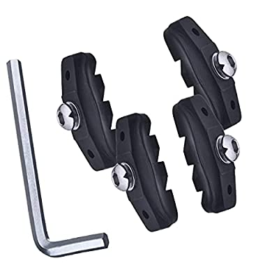 ELAPCO Bike Brake Pads, Ideal Road Brake Pads for Mountain Riders, C Shaped Pads for Mountain Bike Brake Pads, Bicycle Brake Pads Reliable in Wet Condition with Installation Tools