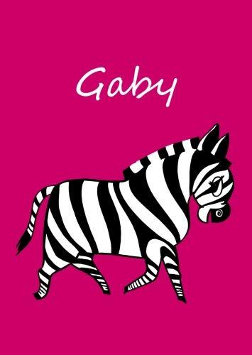 Gaby: personalisiertes Malbuch / Notizbuch / Tagebuch - Zebra - A4 - blanko