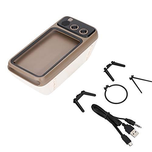Sutinna Altavoz Bluetooth, Retro en Forma de TV HD estéreo Altavoz Bluetooth Altavoz Soporte para teléfono móvil para teléfonos Inteligentes de Menos de 6 '' Altavoz Manos Libres HD