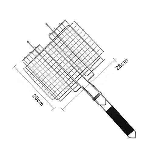 41Sbga7OeIL - SJYDQ NAZHIJINGKEJI Titan Grill im Freien Barbecue Net Picknick Grill Platte Küche Grill Zubehör Durable Küchenwerkzeug mit Griff