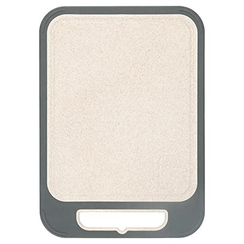 needlid Tabla De Cortar, 13.8x9.8 Pulgadas Tabla De Cortar Paja De Trigo Acero Inoxidable para Restaurante para Cocina para Picnic