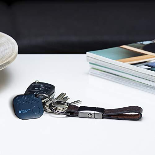 musegear Schlüsselfinder mit Bluetooth App aus Deutschland I Maximaler Datenschutz | dunkelblau 1er Pack I GPS Ortung/Kopplung I Schlüssel Finden
