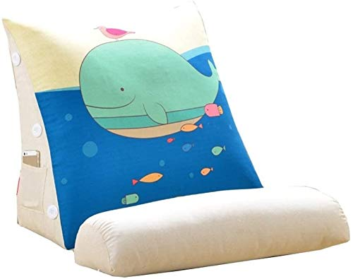 DHFDHD Reading Pillow Wedge Pillow Back Support Pillow Cartoon Cute Bed Wedge Adjustable Reading Pillow Sofa Bed Office Chair Rest Cushion Cushion Pillow (Size : 45 * 45 * 20cm)