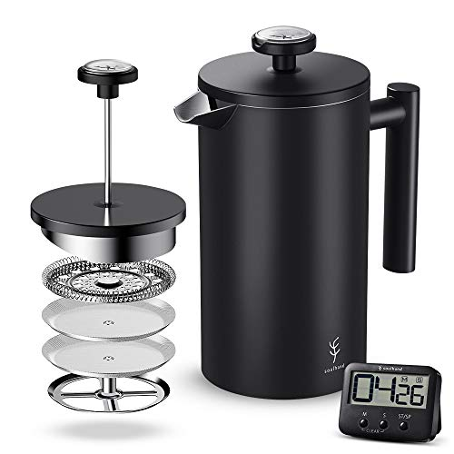 Soulhand Kaffeebereiter mit Thermometer French Press System