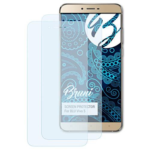 Bruni Schutzfolie kompatibel mit BLU Vivo 5 Folie, glasklare Bildschirmschutzfolie (2X)