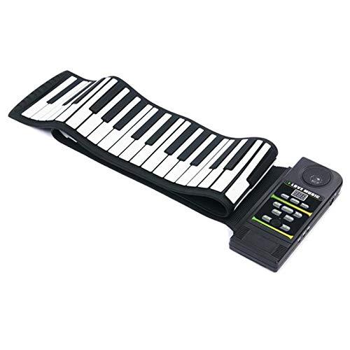JJCFM Rollo De La Mano del Piano, 88 Teclas De Silicona Flexible Digital Lado Rueda para Arriba El Piano Suave Electrónico Teclado Portátil Plegable Regalo para Los Niños del Estudiante