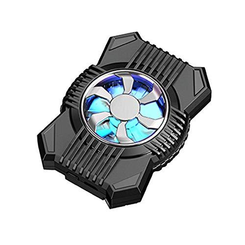 JYDQM Ventilador Usb, Clip de Teléfono Móvil Portátil Mini Mini Handheld Cooling Fan Ajustable Teléfono Celular Batería Atrás Clip para Teléfono,Plata