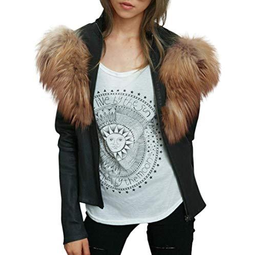 HaiDean winterjas dames sale korte elegante rits longsleeve warme chic imitatiebont mantel slank mode jongens chique overgangsjack uitstekende mantel outdoorwear