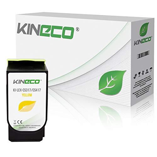 Kineco Toner kompatibel zu Lexmark CS317 für CS 317 DN CS 417 DN CS 517 DE CX 317 DN CX 417 DE CX 517 DE – 71B0040 Yellow 2.300 Seiten