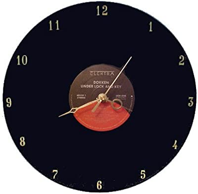 Dokken - Under Lock and Key LP Rock Clock