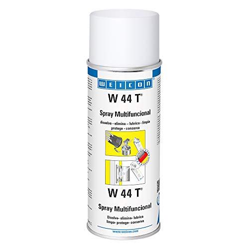 WEICON 11251400-36 W 44 T Multispray, 400 ml, Aceite multifunción universal, elimina el óxido, anticorrosivo, industria & hogar, 0 W, 0 V, Amarillento