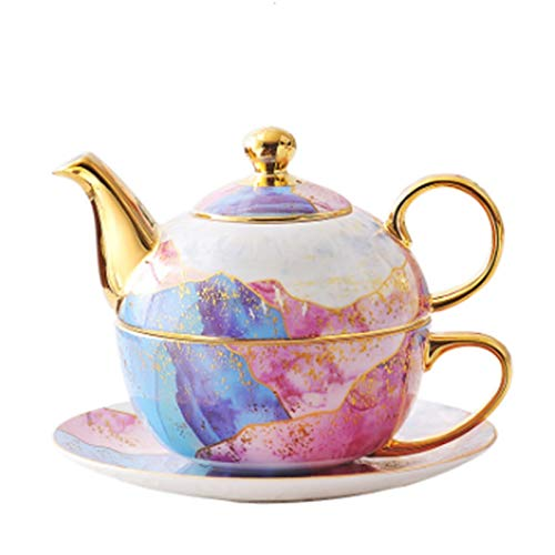 Cast Iron teapot Set Teapot Cup Saucer Set Afternoon Tea Or Coffee Set Including Teapot and Cup and Saucer for Christmas Or Birthday Gift Kitchen Hotel Restaurant