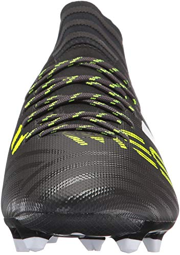 adidas Men's Nemeziz Messi 17.3 Firm Ground Cleats Soccer Shoe, Black/White/Solar Yellow, (10.5 M US)