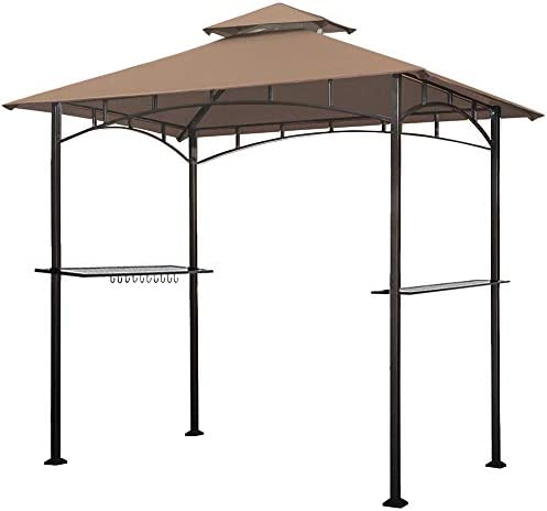 Eurmax 5x8 Grill Gazebo Shelter for Patio and Outdoor Backyard BBQ s Double Tier Soft Top Canopy product image