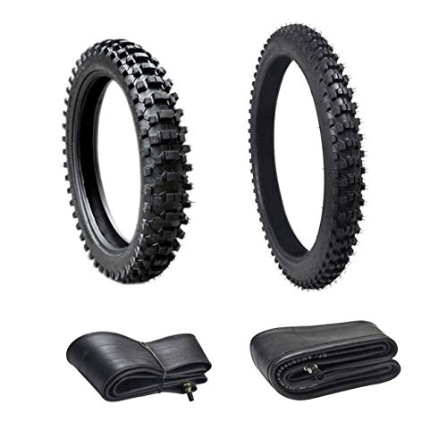 ZXTDR Front 80/100-21 + Rear 110/90-18 Tires and Tubes Dirt Pit Bikes Off Road Motorcycle
