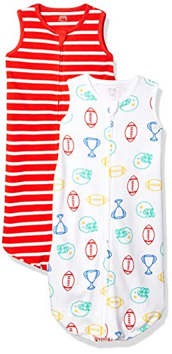 Amazon Essentials 2-Pack Cotton Baby Sleep Sack Infant-and-Toddler-Sleepers, Deportivo, 0-6 Meses