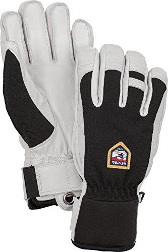 Hestra Ski-Handschuhe, Leder, für kalte Wetterverhältnisse, Unisex Herren, schwarz, 10