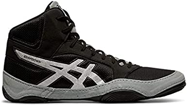 ASICS Men's Snapdown 2 Wrestling Shoes, Black/Silver, 12 W US