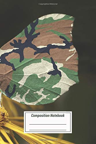 Composition Notebook: Funny And Cute Camouflaged Butterfly Over 100 Pages for Writing