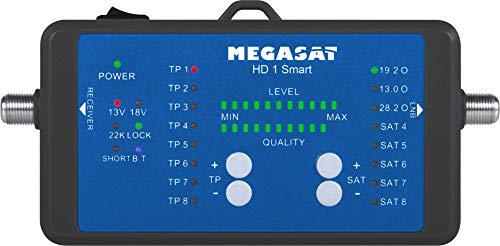 MegaSat 2600019 HD 1 Smart Sat-Finder Messgerät Schwarz/Blau