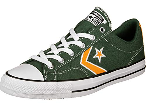 Converse Chucks 164400C Green Star Player Ox Abete Orange Ox Bianco, Taglia:42